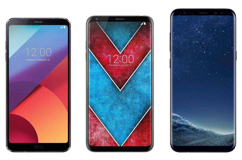 مقارنة LG V30 ضد LG G6 ضد Galaxy S8+