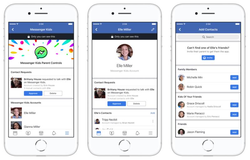 تطبيق فيسبوك ماسنجر للأطفال