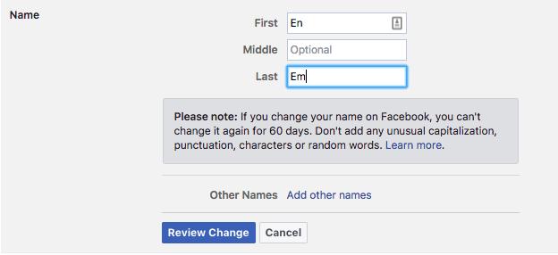 كيف تغير اسمك على فيس بوك 1