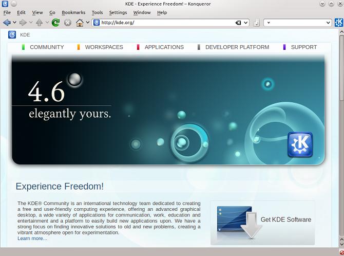 konqueror- أفضل متصفحات الويب مفتوحة المصدر