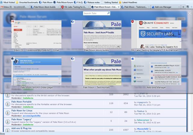 pale-moon-أفضل متصفحات ويب مفتوحة المصدر