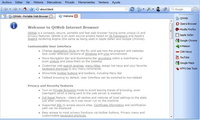 qtweb- أفضل متصفحات ويب مفتوحة المصدر