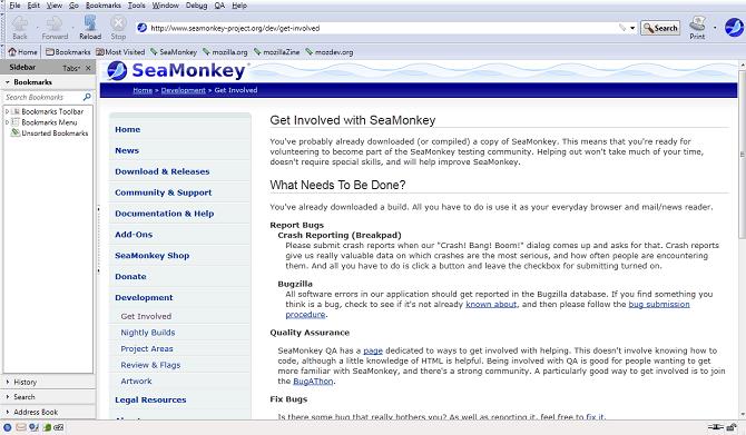 seamonkey- أفضل متصفحات الويب مفتوحة المصدر
