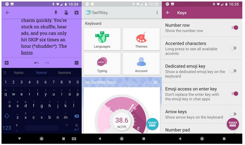 أفضل لوحات مفاتيح اندرويد 2018 - SwiftKey