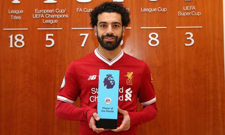 خلفيات محمد صلاح: يحصل على جائزة لاعب الشهر
