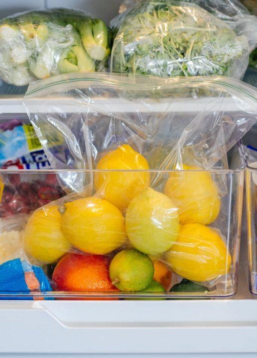 الحفاظ على الليمون طازج داخل الثلاجة