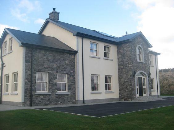 بيت كبير تصميم كلاسيكي حجر