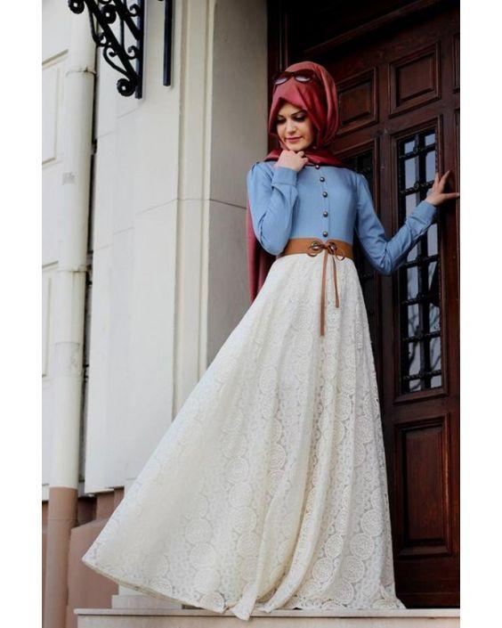 جيبة شيفون بيضاء جميلة تصلح على جينز