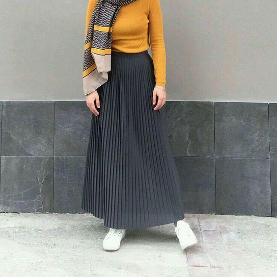 جيبة محجبات مع كرانيش يمكن لبسها على كوتشي