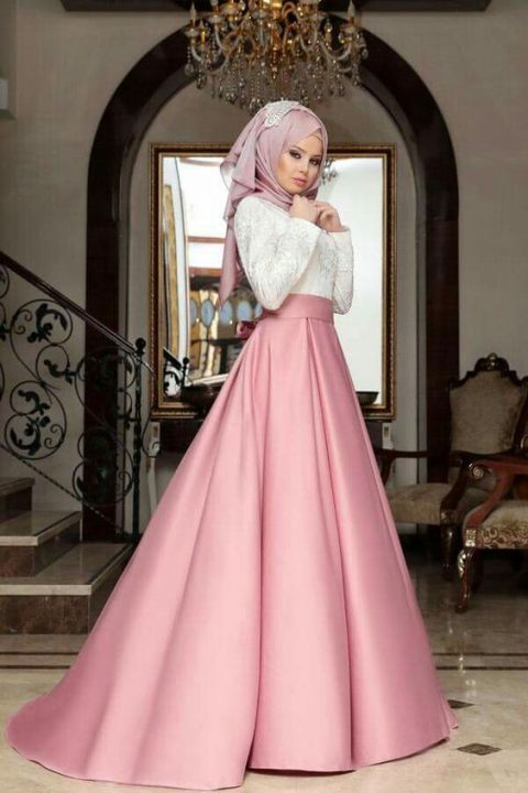 جيبة منفوشة بتصميم تركي مناسبة للحفلات والزفاف