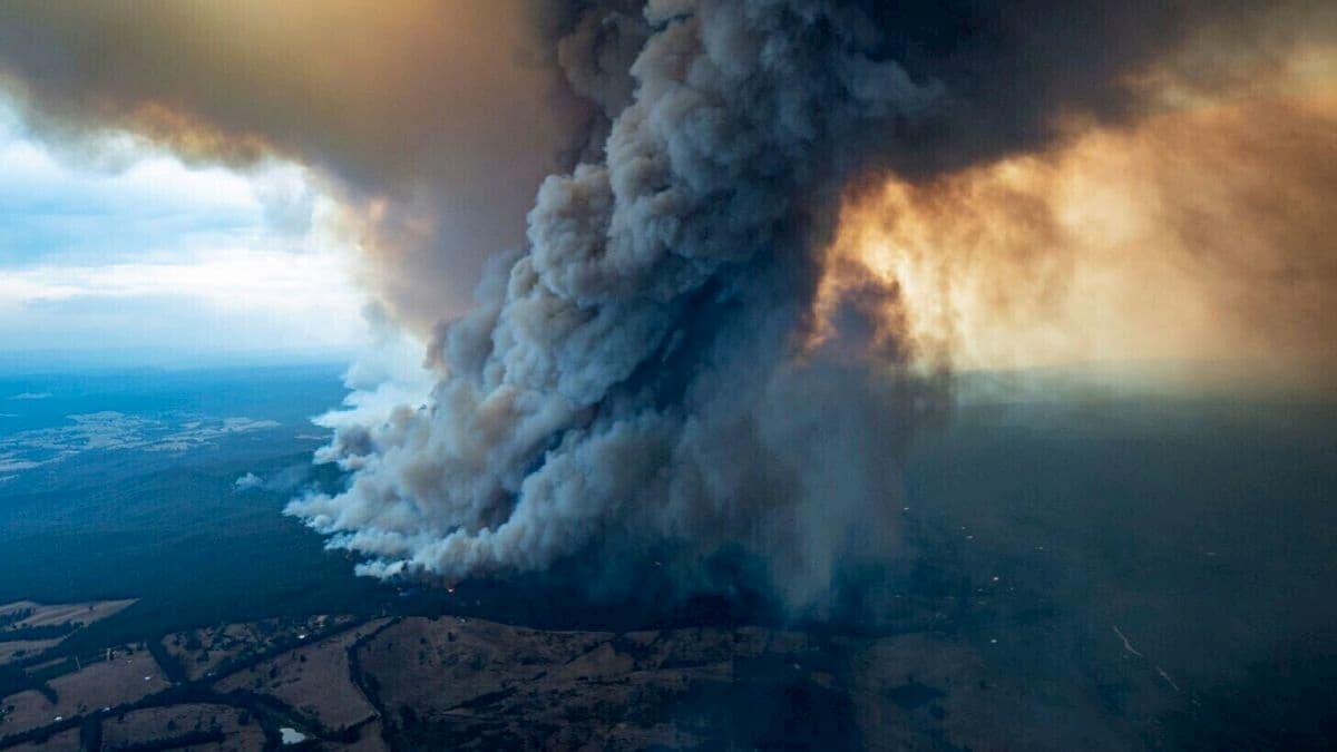 الدخان من الحرائق الاسترالية الى سماء العالم 5